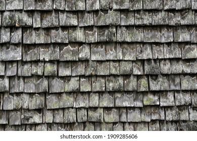 Old wood shingles on a farmhouse, Winkel near Sonthofen, Allgäu, Bavaria, Germany