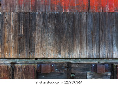 Old wood storage barn warehouse exterior wood siding grunge textue background