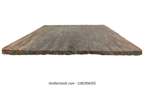 old wood table top isolated on white background-can be used for display or montage your products