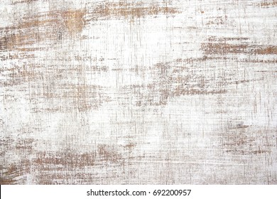 old wood texture distressed grunge background, scratched white paint on planks of wood wall