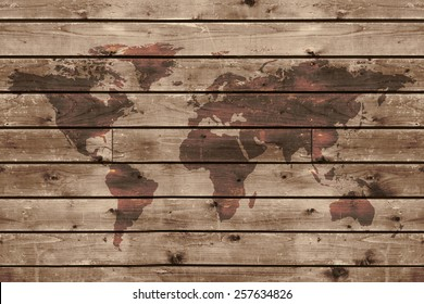 World Map On Wood Images, Stock Photos & Vectors | Shutterstock