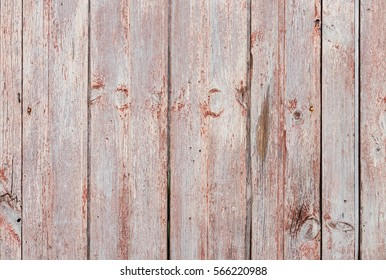 Old wood wall background with weathered and faded paint.