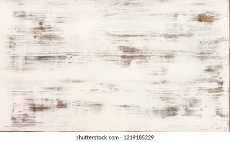 Old wood white background - Bleached wooden table ivory color with brown and grey streaks