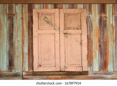 old wood window  for background