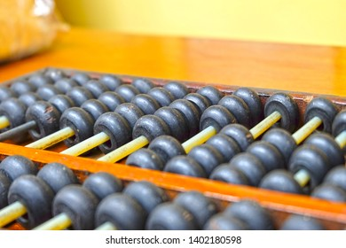 The old wooden abacus for calculation before the discovery State calculators.