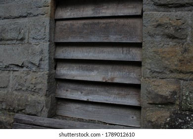 Old Wooden Antique Shuttered Window