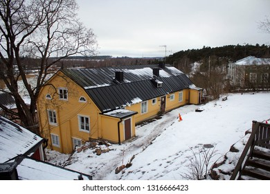 Old wooden architecture of Porvoo, Finland