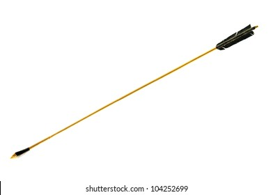 old wooden arrow isolated on a white background