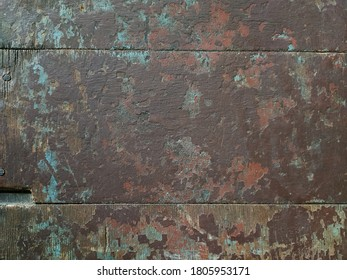 Old wooden background. Grunge wallpaper. Rustic style. Kitchen table