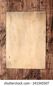old wooden background, menu board
