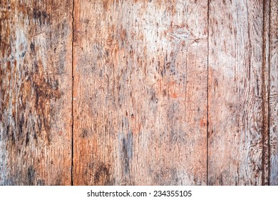 Old wooden background with nails and cracks
