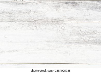 The old wooden background of white color located horizontally.
