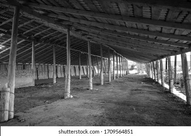 old wooden barn abandoned business