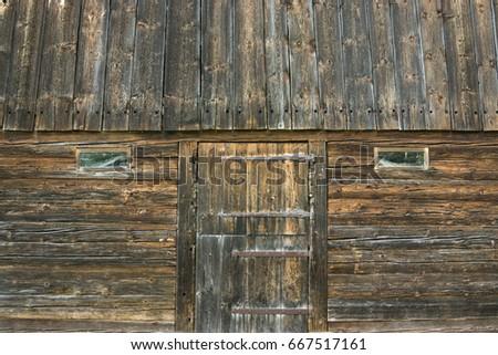 Old Wooden Barn Door Windows Vintage Stock Photo Edit Now