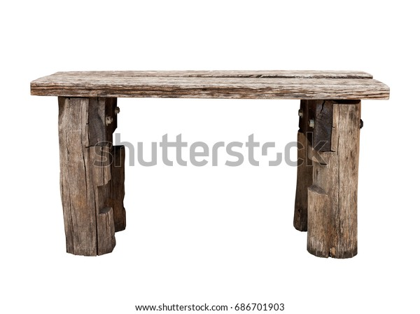 Peachy Old Wooden Bench Wooden Chair Isolated Stock Photo Edit Now Onthecornerstone Fun Painted Chair Ideas Images Onthecornerstoneorg