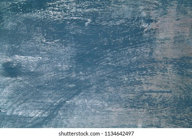 old wooden blue background