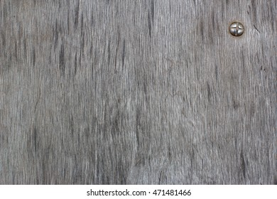 old wooden board with bolt