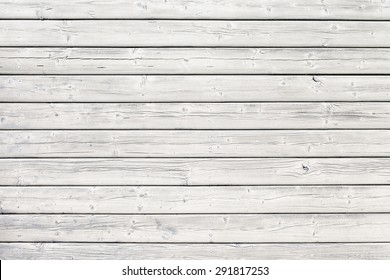 Old wooden board with nails in white, good structure and detail
