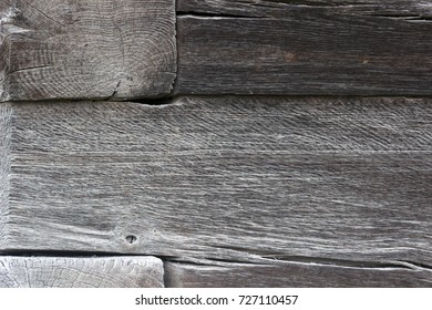 old wooden board with oak dark color, close up