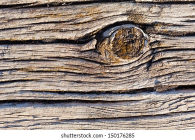 Old wooden board with Timber Knot for Background or Texture. Macro shot.