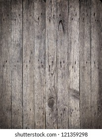 Old Wooden Boards with the Hammered Rusty Nails Background