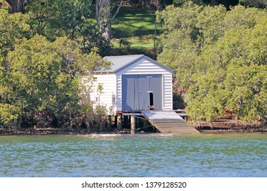 Old wooden boatshed