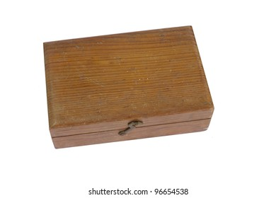 Old wooden box.
