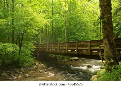 Old wooden Bridge over a Stream in Tennessee
