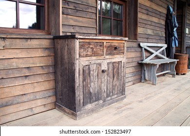Old wooden cabinet