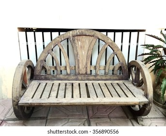 Old wooden chair with home background