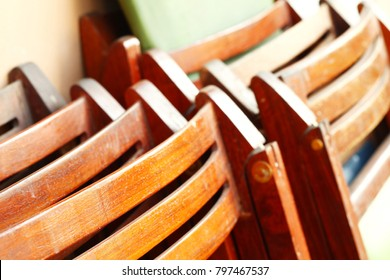 Old wooden chair represent wood home furniture concept.