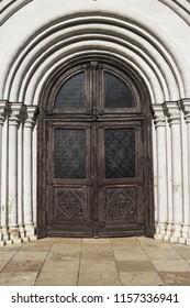 old wooden Church Door background