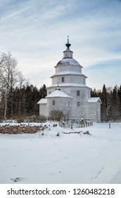 Old wooden church of Elijah the Prophet was built in 1755 near village Tsypino, Vologda region, Russia
