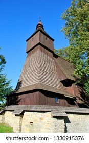 The old wooden church in Hervartov, Bardejov district, Presov region, Slovakia