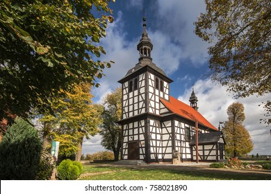 Old wooden church in Jedlec, Pleszew County, Greater Poland Voivodeship, Poland