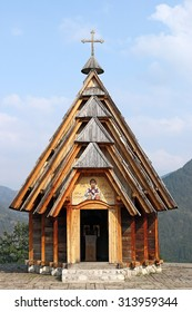 old wooden church on mountain