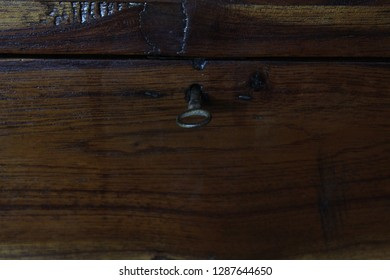 old wooden coffer