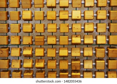 old wooden cubes texture as nice background