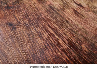 Old wooden desk in dim light