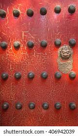 Old wooden door in Beijing, China