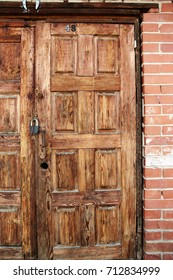 old wooden door with brown wood texture