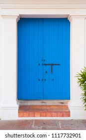 Old wooden door, Cartagena de Indias, Colombia.