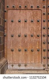Old wooden door, Cuzco, Peru