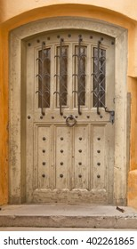 Old wooden door in Hohenschwangau Castle