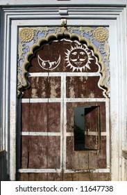 Old wooden door in India