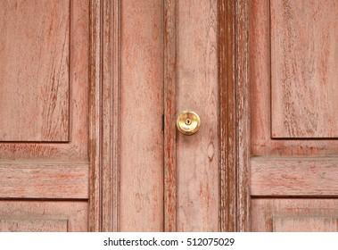 old wooden door locked