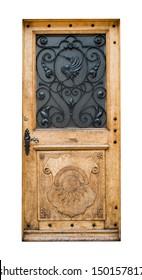 An old wooden door in Switzerland