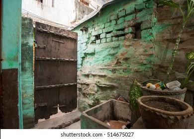 Old wooden door, Varanasi, India