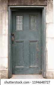 Old wooden doorway