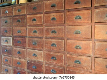 Old wooden drawer